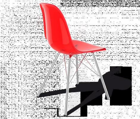 Стул Sheffilton SHT-S37 красный/хром-2