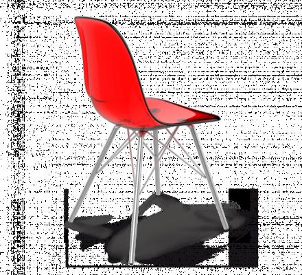Стул Sheffilton SHT-S37 PC красный/хром лак-2
