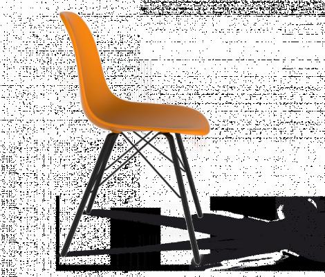 Стул Sheffilton SHT-S37 оранжевый/черный муар-1