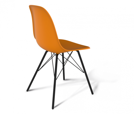Стул Sheffilton SHT-S37 оранжевый/черный муар-2