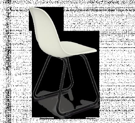 Стул Sheffilton SHT-S38 белый/черный муар-1