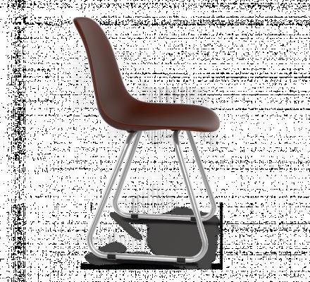 Стул Sheffilton SHT-S38 коричневый/хром лак-2