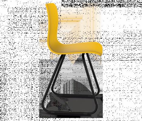 Стул Sheffilton SHT-S41 желтый/черный муар-2
