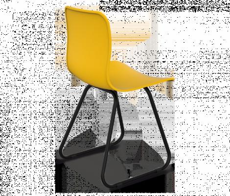 Стул Sheffilton SHT-S41 желтый/черный муар-1