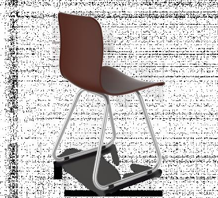 Стул Sheffilton SHT-S41 коричневый/хром лак-1