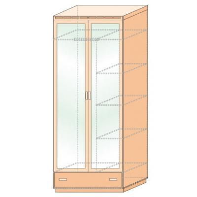 Шкаф для платья и белья двустворчатый Кери Голд-1