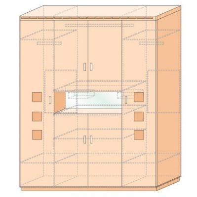 Шкаф для платья и белья Кери Голд-1
