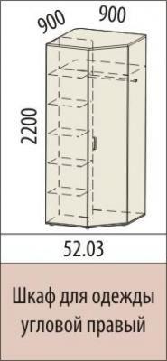 Шкаф для одежды угловой 52.03 Британия-1