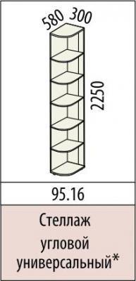 Стеллаж угловой универсальный 95.16 Ривьера-1