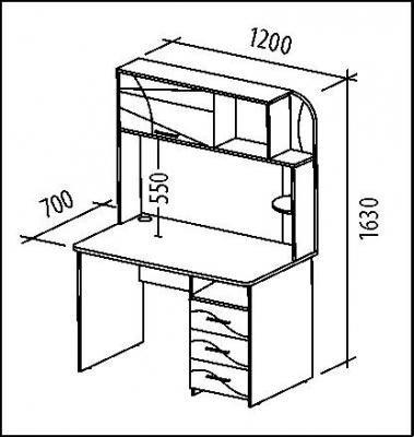 Стол компьютерный Розали 96.26-1