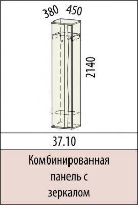 Комбинированная панель с зеркалом 37.10 Маргарита-1