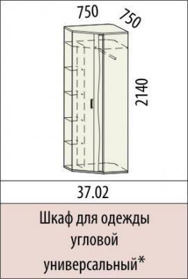 Шкаф для одежды угловой универсальный 37.02 Маргарита-1