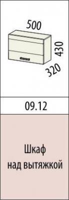 Шкаф над вытяжкой 09.12 (50 см.)/09.14 (60 см.) Оранж-9-2