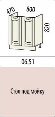 Стол под мойку 06.50 (60 см.)/06.51 (80 см.) Глория-6-3