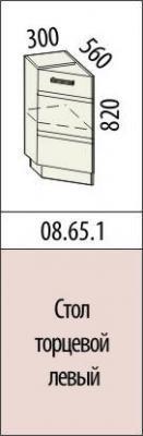 Стол торцевой левый 08.65.1 Палермо-8-1
