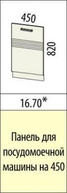 Панель для посудомоечной машины 16.69 (60 см.)/16.70 (45 см.) Рио-16-2
