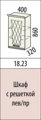 Шкаф с решеткой лев/пр 18.23 Афина-18-1