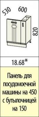 Панель для посудомоечной машины с булочницей 18.68 Афина-18-1