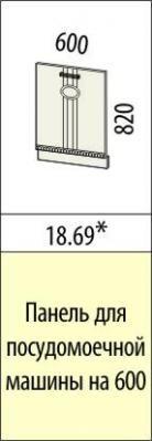 Панель для посудомоечной машины 18.69/18.70 Афина-18-2