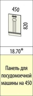 Панель для посудомоечной машины 18.69/18.70 Афина-18-3
