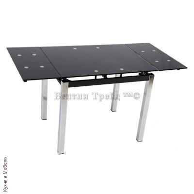 Стол обеденный S64 (90) Black/silver-1