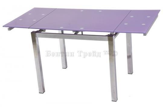Стол обеденный S64 (90) Light purple/хром-1