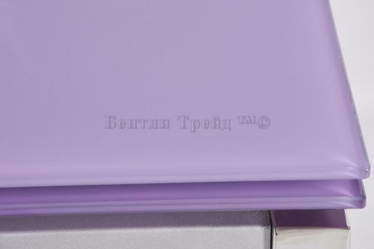 Стол обеденный S64 (90) Light purple/хром-2