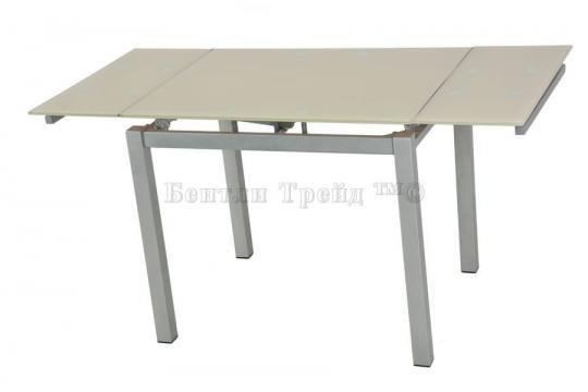 Стол обеденный S64 (90) Beige/silver-1