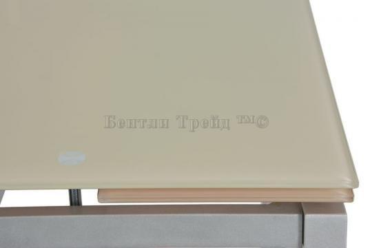 Стол обеденный S64 (90) Beige/silver-2