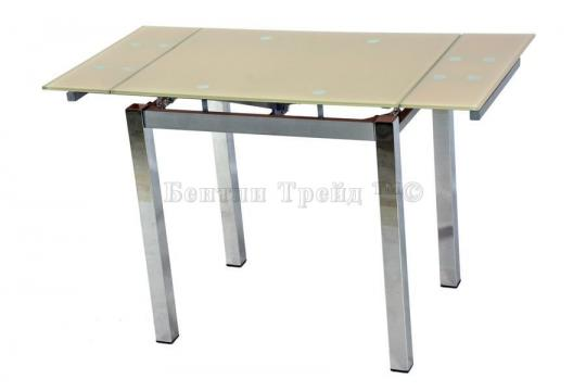 Стол обеденный S64 (80) Beige/хром-2