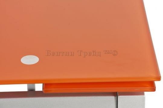 Стол обеденный S64 (80) Orange/silver-2