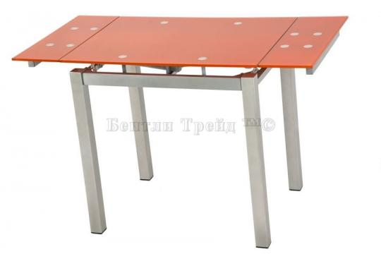 Стол обеденный S64 (80) Orange/silver-1