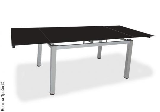 Стол обеденный S34 Black/хром(без цветка)-1
