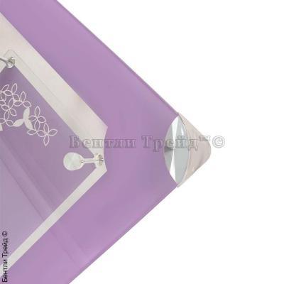 Стол обеденный S206 (100) Purple/Silver-1