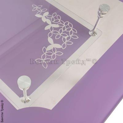 Стол обеденный S206 (100) Purple/Silver-3