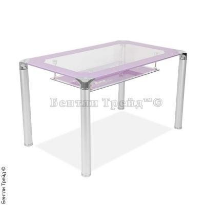 Стол обеденный S206 (100) Purple/Silver-4