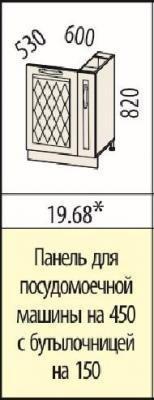 Панель для посудомоечной машины с бутылочницей 19.68 Тиффани-19-1