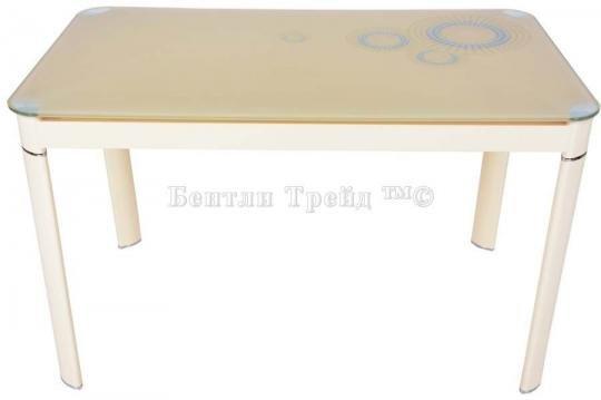 Стол обеденный S12 (110) Beige/Beige-1