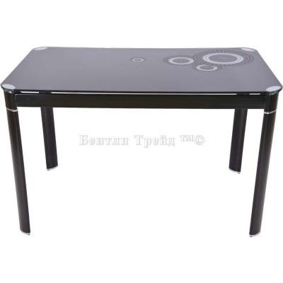 Стол обеденный S12 (110) Black/Black-2