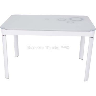 Стол обеденный S12 (120) Super white/White-2