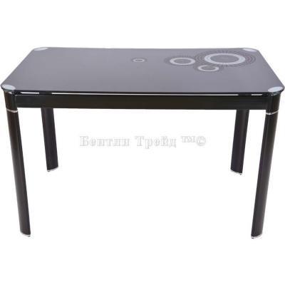Стол обеденный S12 (120) Black/Black-2