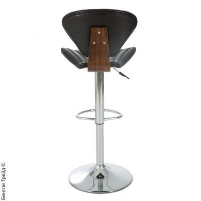 Стул барный JY-1966 Walnut/Shiny brown-1