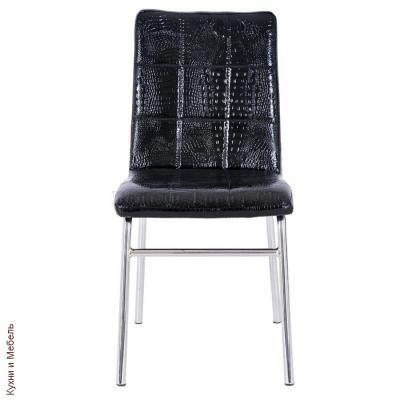 Металлический стул Y-14 Shiny black crocodile-1