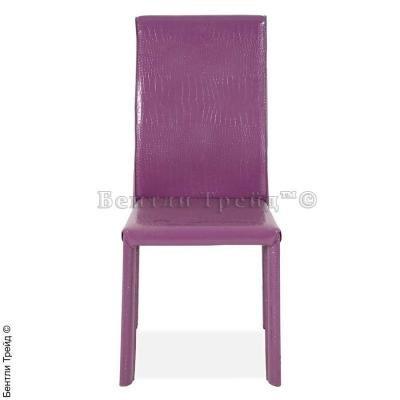 Металлический стул B-410 Violet crocodle(A73)-3