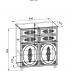 Тумба комбинированная Ассоль Плюс АС-18-2