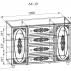 Тумба комбинированная Ассоль Плюс АС-19-2