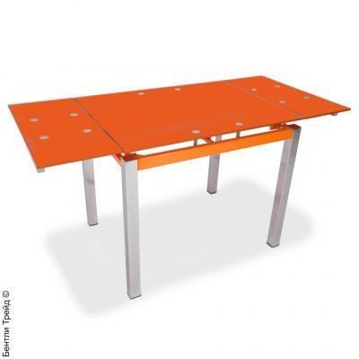 Стол обеденный раскладной B179-64(C) Orange/хром(без цветка)-1