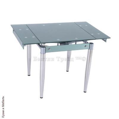 Стол обеденный раскладной B179-19 Shiny gray(без цветка)-1