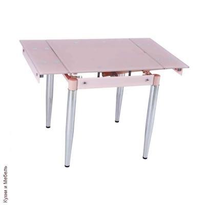 Стол обеденный раскладной B179-19 Pink(без цветка)-1