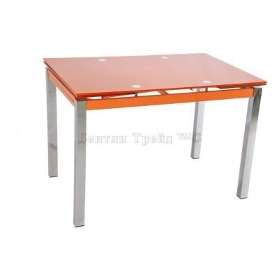 Стол обеденный раскладной B017(C) Orange (без цветка)-4
